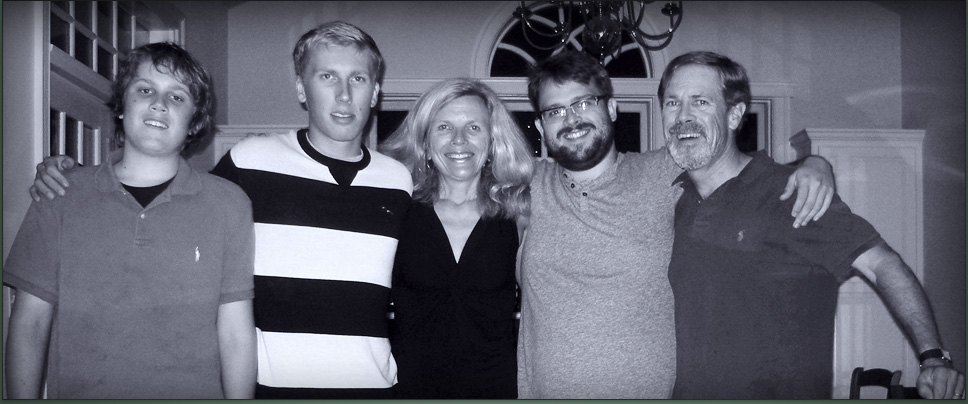 Marty Bement, wife Elizabeth, sons Owen, Alex & Will